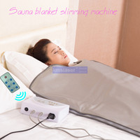 Wholesale Infrared Sauna Zone - New model 2 Zone FIR Sauna FAR INFRARED BODY SLIMMING SAUNA BLANKET heating therapy Slim Bag SPA WEIGHT LOSS body detox machine