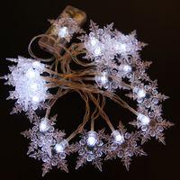 Wholesale new ce plug resale online - New M LED Snowflake Tree String Fairy Lights Christmas Xmas Party Wedding room indoor Decoration Luci Natale EU Plug V US V