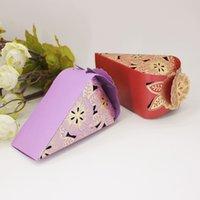 elegantes regalos para bebés al por mayor-Aniversario Elegante Conos de flores Favores de la boda Caja de regalo para dulces 50 piezas Embalaje Caja de papel Matrimonio Embalagem Baby Shower Artículos de fiesta
