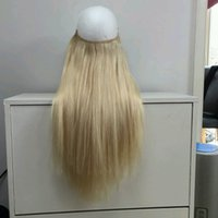 Wholesale Mixed Length Peruvian 613 - 2017 Flip in Hair extensions Halo Hair 1 1b 2 4 6 8 18 27 613 Mix colors Length 10-30 inch