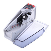 Wholesale Mini Handy Money Counter - Freeshipping Mini Portable Handy Money Counter for most Currency Note Bill Cash Counting Machine EU-V40 Financial Equipment Wholesale