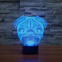 Wholesale Promotional Gift For Baby - Wholesale- Cute Pug Dog Night Light Baby Animal LED Lights Table Lamps For Home Decor Christmas Promotional Gifts For kids Children GX1026