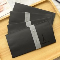 Wholesale Wedding Invitations Bag - Wholesale- 5PCS BAG New Retro Black Gilding Envelope For Card Scrapbooking Gift Wedding Letter Invitations korean stationery papelaria 2215
