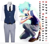 Wholesale Cheap Japanese Clothes - High quality Japanese Anime clothing Ansatsu Kyoushitsu cosplay costumes Shiota Nagisa COS clothes full set cheap