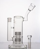 Wholesale Mobius Stereo Matrix perc layers recycler oil rigs bong inches glass water bongs pipes Tube with Stereo Perc heady glass
