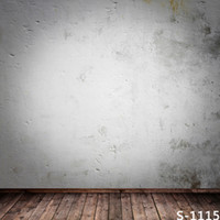 Wholesale Digital Background Floors - 5x7ft Vinyl Digital White Cement Wall Wood Floor Photography Studio Backdrop Background