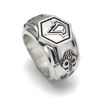 Wholesale assassins creed jewelry resale online - Assassins Creed Rings Fashion Jewelry Assassin Creed Alloy Ring Memorial Ring Collection