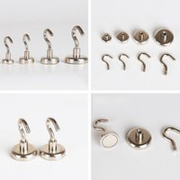 Wholesale Magnetic Kitchen Tools - 10pcs Magnetic Hanging Hooks N35 Neodymium Strong Rare Earth Magnet Hanger Wall Hanging For Home Kitchen Storage Tools