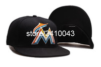 Wholesale Marlins Hats - Classic Florida Marlins M Letter Logo Baseball Fitted Hats Men's,Sport Hip Hop Closed Caps Women's,Fashion Cotton Casual Hats