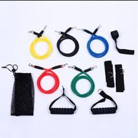 bant abs toptan satış-1 yılında 11 ADET Takım Lateks Direnç Bantları Spor Egzersiz Tüp Halat Set Yoga ABS Egzersiz Spor Dropshipping