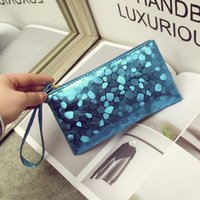 Wholesale Cheap Purple Clutches - cheap colorful clutch bags women handbags wallets purse small bags phone coi card holder travel cosmetic bags