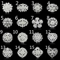Wholesale Order Bouquet Brooches - Wholesale- No minimum order !!!!!! Fashion brooches pins silver vintage crystal brooch bouquet for wedding womens brooch