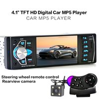 Wholesale Hd Usb Kit - 4.1 Inch 1 Din HD Bluetooth Car Stereo Radio Auto MP3 MP5 Audio Player Support USB FM TF AUX + Backup Reverse Rearview Camera CMO_21N