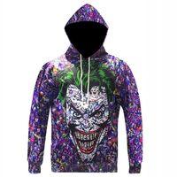 Wholesale Hoodies Joker - Wholesale-New Arrival Men Women Fashion Joker Hoodie Suicide Squad Deadshot All Over Print 3D Sweatshirt Men Character Hoodie Tracksuits