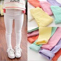 ingrosso tessuto colorato caramelle-Pantaloni da ragazza Nuovi leggings color caramello Neonati Leggings classici 3-13Year Old Kids Leggings pantaloni da bambino in tessuto di alta qualità