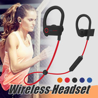 Wholesale Powered Bluetooth - Power 3 Wireless Bluetooth Headphones For Iphone 7 Samsung S8 4.1 Stereo Headsets Ear Hook Type Sports headphone for Jogging Travelling