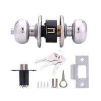 Wholesale Privacy Door Locks - Lowest Price Home HF-Q-08 Stainless Steel Brushed Round Ball Privacy Door Knob Set Handle Lock Door Knob Lock 60# for Door Bedroom