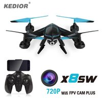 2018 Mais recente X8SW Fpv Wifi Ufo Drone com câmera HD Rc Quad copter 2.4G Profissional Dron HD 720P Flying Camera Helicopter UAV
