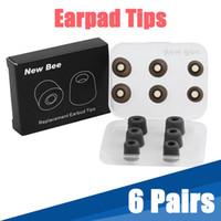 reemplazo de espuma de auriculares al por mayor-6 pares de almohadillas de espuma de memoria de reemplazo de confort puntas de auriculares de silicona con bolsa de almacenamiento para accesorios de auriculares Sporys