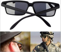 Wholesale Wholesale Spy Gadgets - FBI Detective Rear View Spy Mirror Mirrored Sunglasses Novelty Gadget See what Behind you10pcs lot Free Shipping