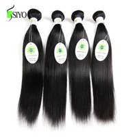 Wholesale Malaysian Straight Bundles - Malaysian Virgin Hair Straight 4 Bundles 100% Unprocessed Malaysian Human Hair Weave Straight 100g pc Natural Color