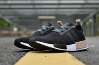 Wholesale Ventilated Running Shoes - New fashion high quality Classic NMD black Ventilate Leisure R1 Shoes for boy and girl NMD Top Quality Casual Running Shoes