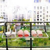 Wholesale foldable mutifunctional clothes hanger balcony clothes dryer