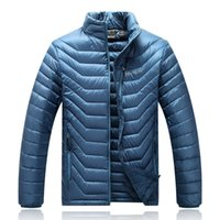 Wholesale 5xl Light Jacket - New Winter Outdoor Sports Camping Hiking Jacket Men White Duck Down Jacket Ultra Light Men's Hooded Jackets Warm Coat 077