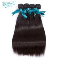 Wholesale Fashion Queen Hair - Fashion Pervian Virgin Hair Straight 4 Bundles Queen Love Straight Peruvian Virgin Hair 7a Luvin Hair Products Quality Guarantee Bundle Deal