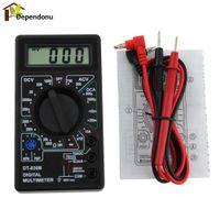 ingrosso penna conta-Multimetro digitale LCD DT-830B AC / DC 750 / 1000V Voltmetro Amperometro ohm Tester Multimetro digitale