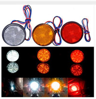 Wholesale Quality Wholesale Trailers - Pair LED Round Reflector Brake Stop Marker Light Indicator Taillights Truck Trailer Car Motorcycle 3 Colors High Quality