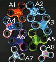 Wholesale Wholesale Glow Paint - Painted New Styles Fidget Spinner High Quality EDC Hand Spinner camo Glow in the dark fidget toysBright Color Painted Kid Finger S
