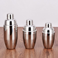 Wholesale Stainless Steel Wine Shaker - Stainless Steel Boston Shaker Cocktail Cocktail Mixer Wine Martini Drinking Boston Style 350 530 700ml Shaker For Party Bar Tool DHL 0702201