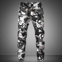 Wholesale taper sizes - Wholesale- New fashion autumn camouflage pants men beam pants men casual sweat Taper pants for men large size M-5XL