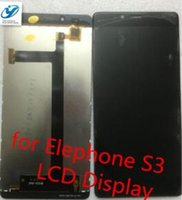 Wholesale S3 Original Black Display - Wholesale- Black Elephone S3 Original Assembly LCD Display +Touch Screen For Elephone S3 Smart Phone Free Shipping