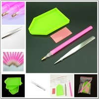 Wholesale Paint Trays - Daimond mosaic tool DIY 5D Daimond painting stitch pencil pen for square 5d diy diamond painting tray