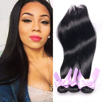 Straight Weave Cheap Virgin Hair Bundles 3 pièces / lot Unprocessed 7a Virgin Human Hair Double Drawn Cheap Hair Extensions