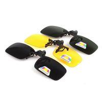 Wholesale Wholesale Clip Sunglasses - Fashion sunglasses Clip Myopia Polarized Unisex Ultra-light Lens On Sunglasses UV400 Driving goggles With packaging ZA2907