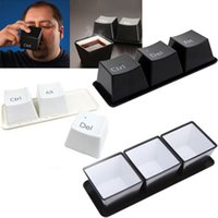 Wholesale Ste Gamer keycaps Cups Ctrl Art Del Creative drinkware Coffee Tea Cups Black White Keycap cup