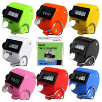 Wholesale Mechanical Click Counter - 8 Color Hand Tally Counter 4 Digit Tally Counter Mechanical Palm Click Counter Count Clicker for Sport Stadium Coach Casino and Other Event