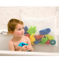 Wholesale Cheap Tub Bathroom - Wholesale- New Arrival Kids Baby Bath Tub Toy Tidy Storage Suction Cup Bag Mesh Bathroom Organiser Net Cheap