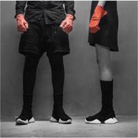 Wholesale Basics Shoes - LTTL Unisex Full Grain Leather Basic Knee High Boots plus size Stretch Fabric Horseshoe Luxury Trainers Men's Fashion Flat Shoes