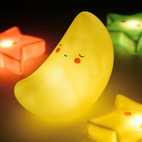 Wholesale Smiling Faces Lamps - Cartoon LED Night Light Cute Bedside Lamp Creative Bedroom Decor with Soft Light Cloud Moon Smile Face Style New for Kids YW201