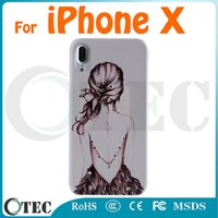 Wholesale Diamante Case Cover For Iphone - 3D Stereo Relief PC Hard Case For iPhone X iPhone 8 8 Plus 7 7 Plus 6 6S Plus 5S 5SE Diamante Cover