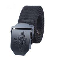 Wholesale 38 Pin - 100-135CM Famous brand luxury belts for men belt male waist canvas strap alloy pin buckle ceinture canvas belts B1