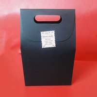 Black Zakka Handle Gift Bag Handmade Soap Craft Cookies de chá Bolo Candy Packaging Paper Boxes