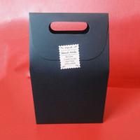 zakka papier groihandel-Schwarze Zakka Griff Geschenk Tasche handgemachte Seife Handwerk Tee Kekse Kuchen Süßigkeiten Verpackung Papier Boxen