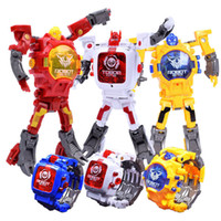 Wholesale Movie Action Toy - Children Sports Watch Robot Action Figures Transformation Toys Kids Student LED Digital Watch Xmas toy With Battery Children