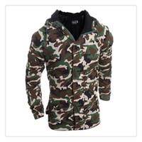 Wholesale Camouflage Winter Coats For Men - Cotton Jackets for Men 2017 Autumn&winter Camouflage Style Men's Sports&outdoor Cotton Jackets Coat US Size:XS-L