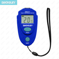 Wholesale Enamel Paint Plastic - Mini Digital LCD Coating Thickness Gauge Cheap Automotive Paint Thickness Meter 2.0mm 80mil Resolution 0.1mm 1mil Enamel Plastic Epoxy 2%rdg